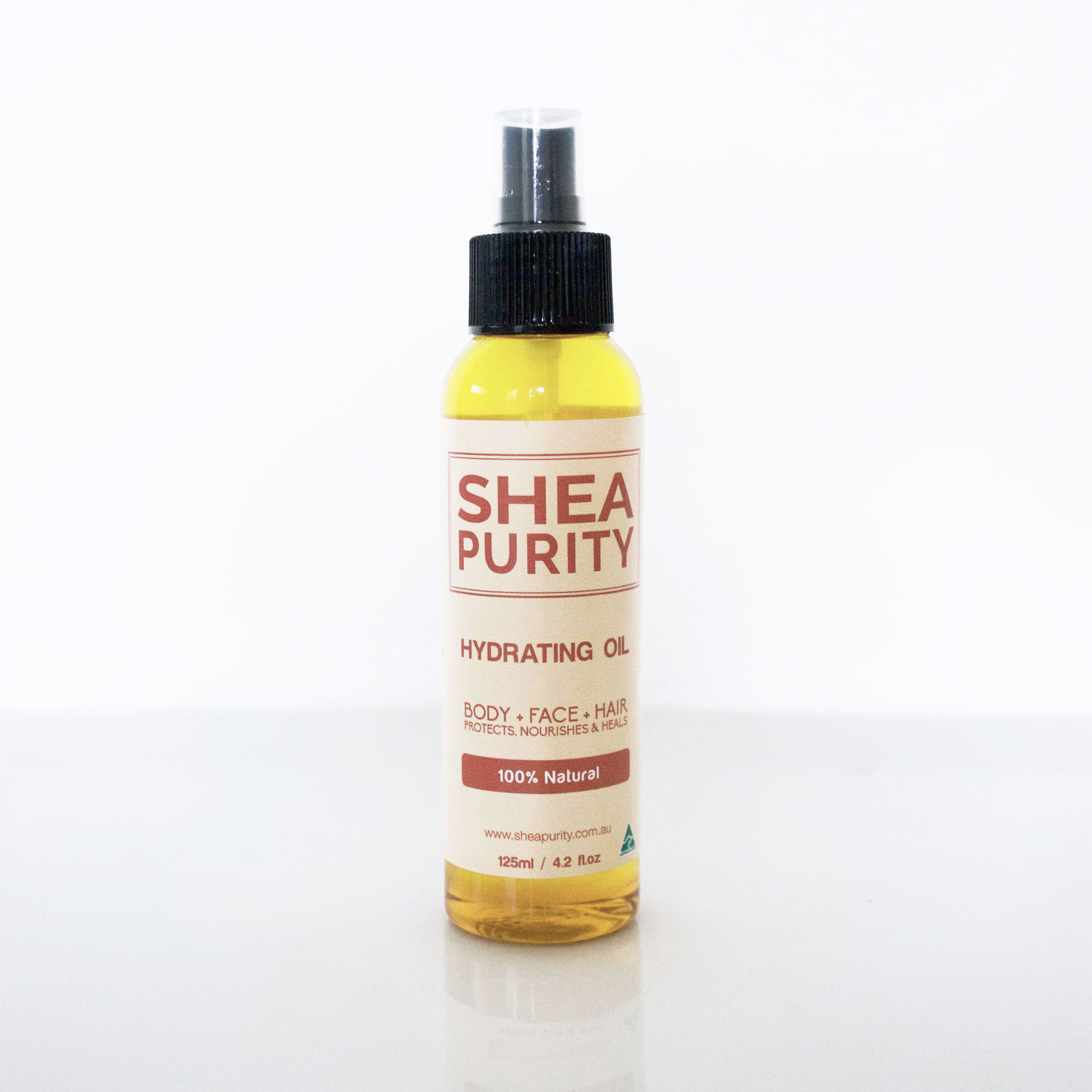 Shea Purity Light Oil For Body Hair 125ml Instant Hydration Vegetable Glycerine 125 Ml